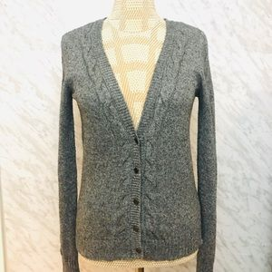 Alfred Sung Cardigan Sweater Grey Size Small